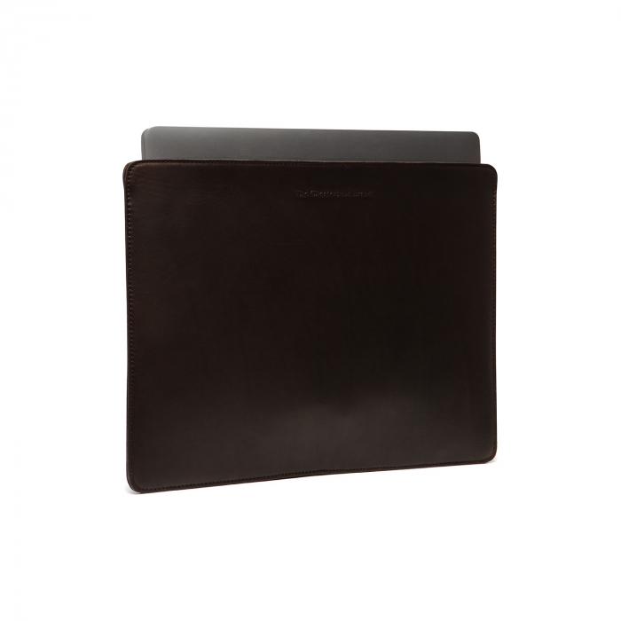 Husa pentru laptop din piele naturala, The Chesterfield Brand, Miami 15 inch, Maro inchis [0]