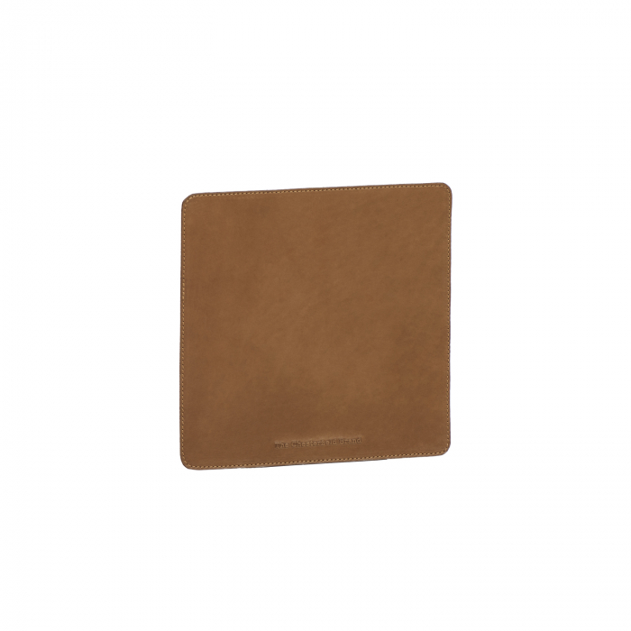 Mouse Pad din piele naturala, The Chesterfield Brand, in cutie cadou, maro coniac [0]