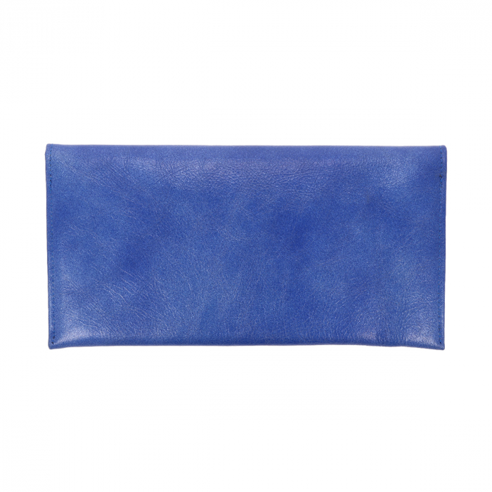 Plic de ocazie albastru imperial din piele naturala [2]