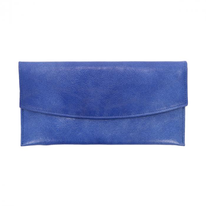 Plic de ocazie albastru imperial din piele naturala [1]