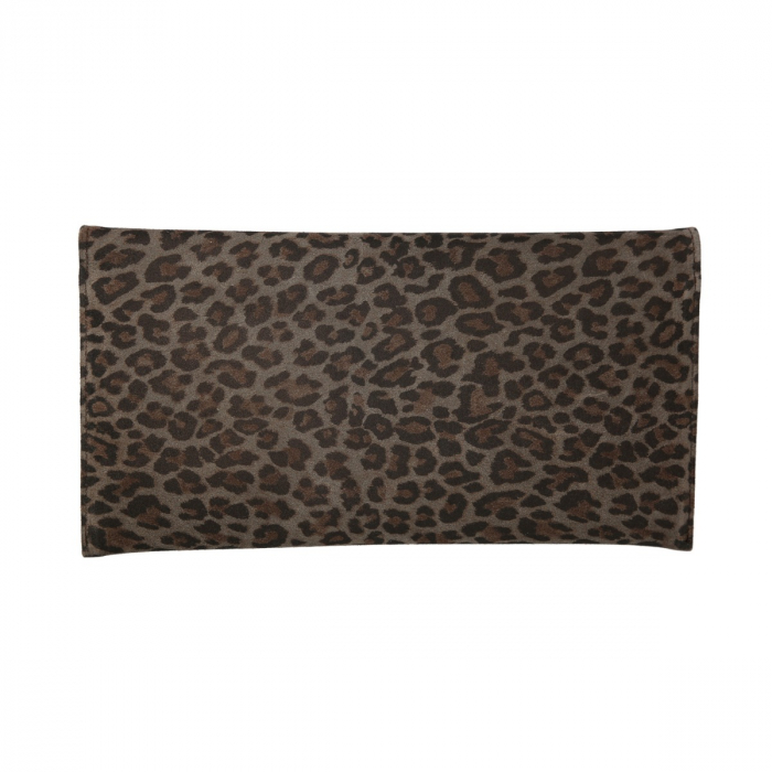 Plic de ocazie animal print din piele naturala gri inchis si negru [1]