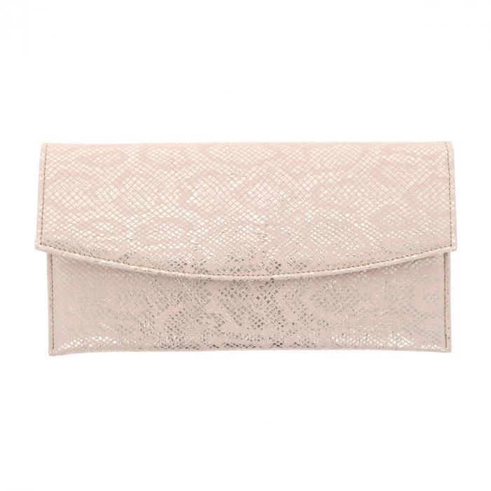 Plic de ocazie auriu roze din piele naturala [3]