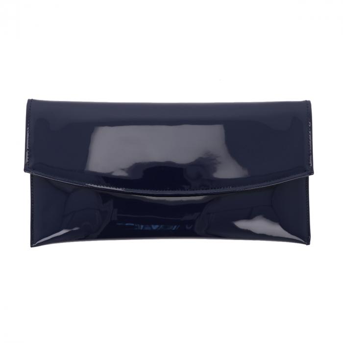 Plic de ocazie bleumarin din piele lacuita [1]