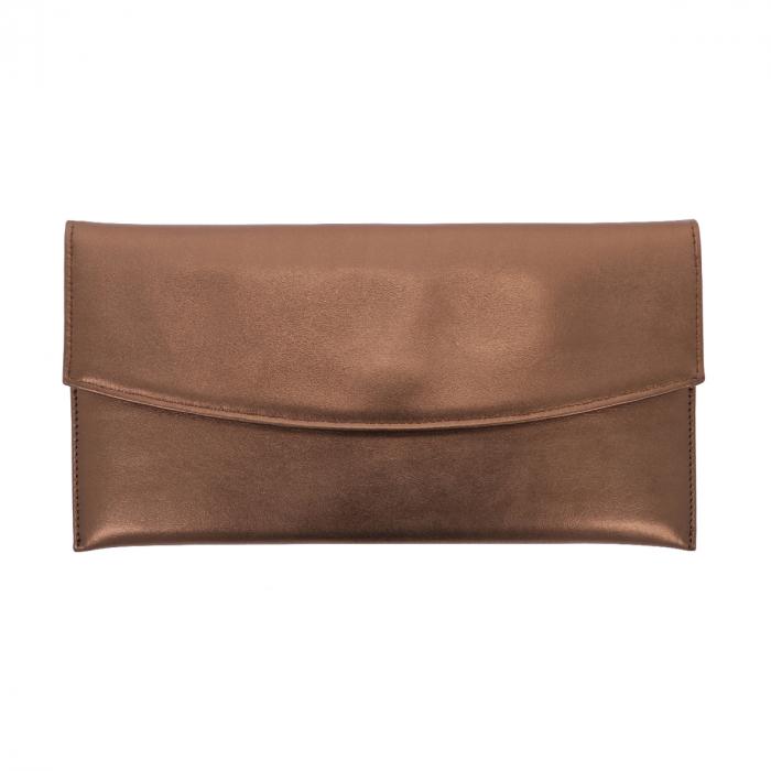 Plic de ocazie bronz din piele naturala fina [1]
