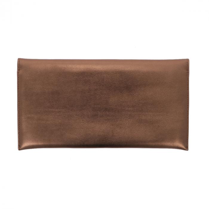 Plic de ocazie bronz din piele naturala fina [2]