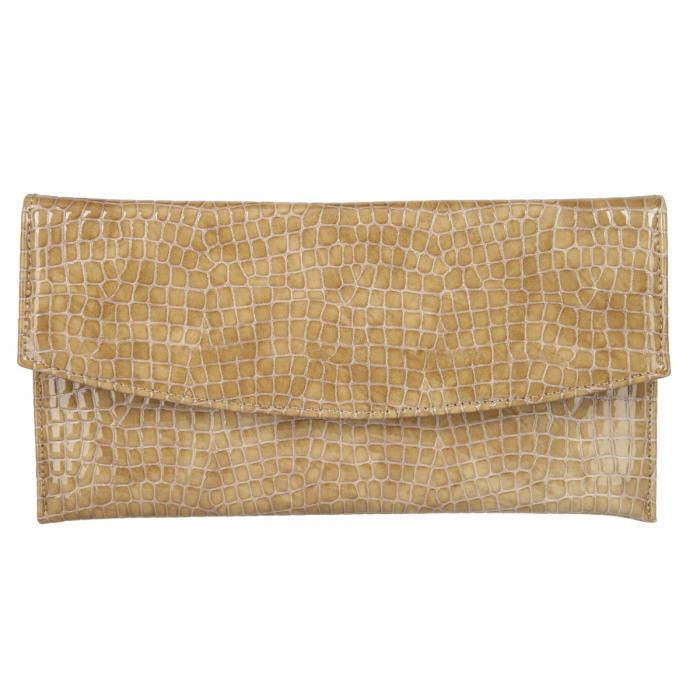 Plic de ocazie cappucino din piele croco lac [1]