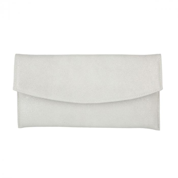 Plic de ocazie din piele intoarsa alb sidefat [2]