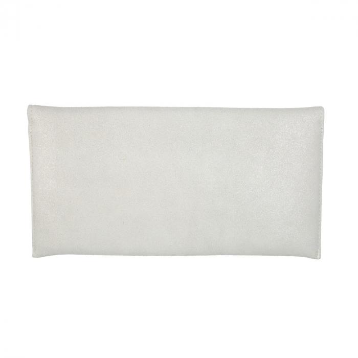 Plic de ocazie din piele intoarsa alb sidefat [1]
