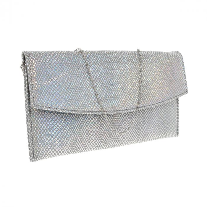 Plic de ocazie din piele naturala argintiu cameleon [0]