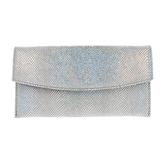 Plic de ocazie din piele naturala argintiu cameleon [3]