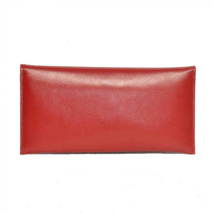 Plic de ocazie din piele naturala rosie [1]