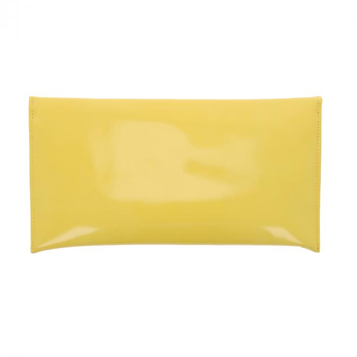 Plic de ocazie galben din piele lacuita [2]