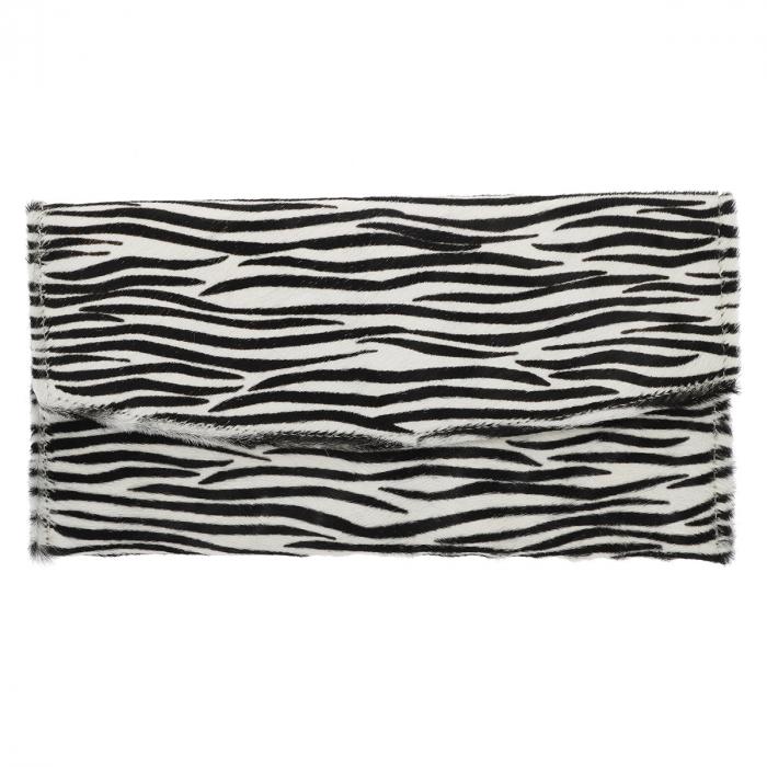 Plic de ocazie model new zebra din piele naturala cu par [1]
