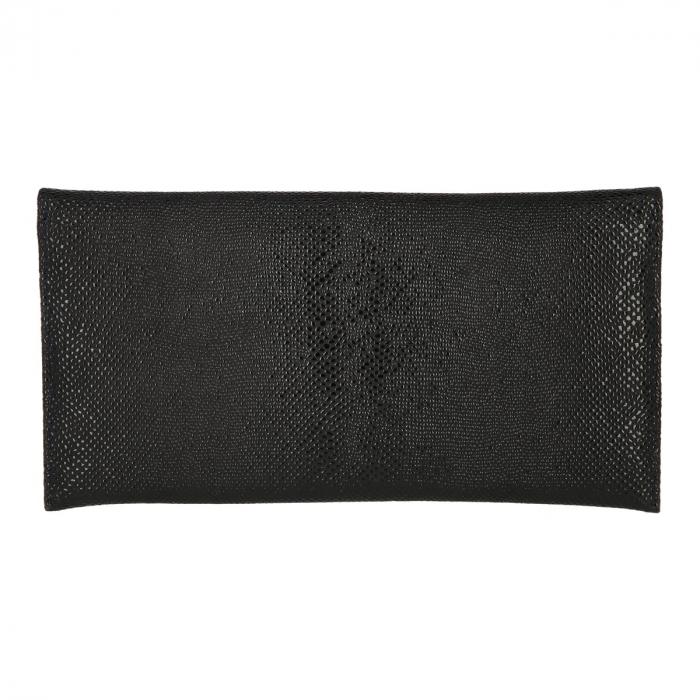 Plic de ocazie negru din piele naturala cu model picuri de ceara [2]