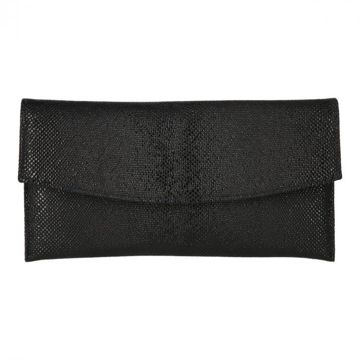 Plic de ocazie negru din piele naturala cu model picuri de ceara [1]