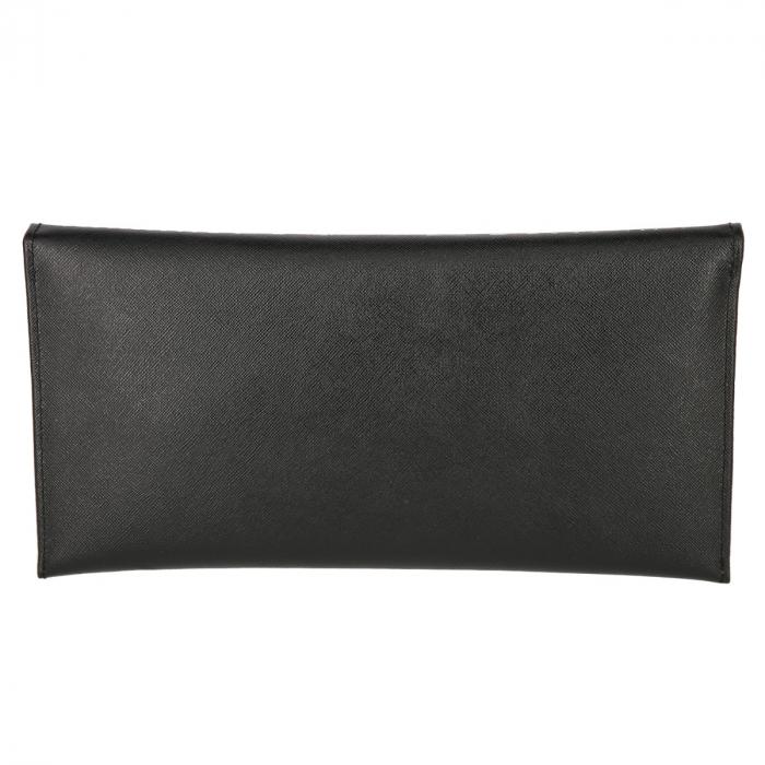Plic de ocazie negru din piele naturala cu striatii [2]