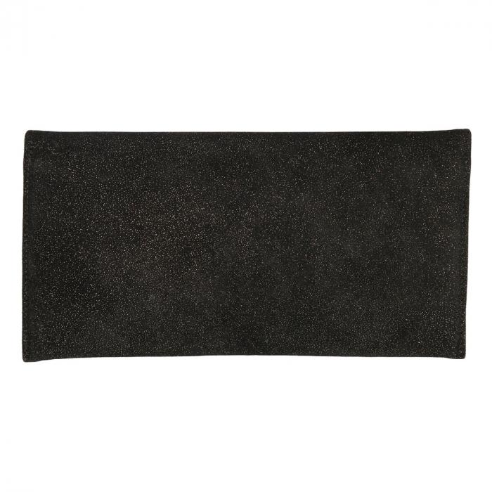 Plic de ocazie negru sidefat intens din piele intoarsa [2]