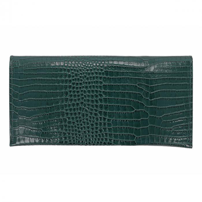 Plic de ocazie verde din piele naturala croco [2]