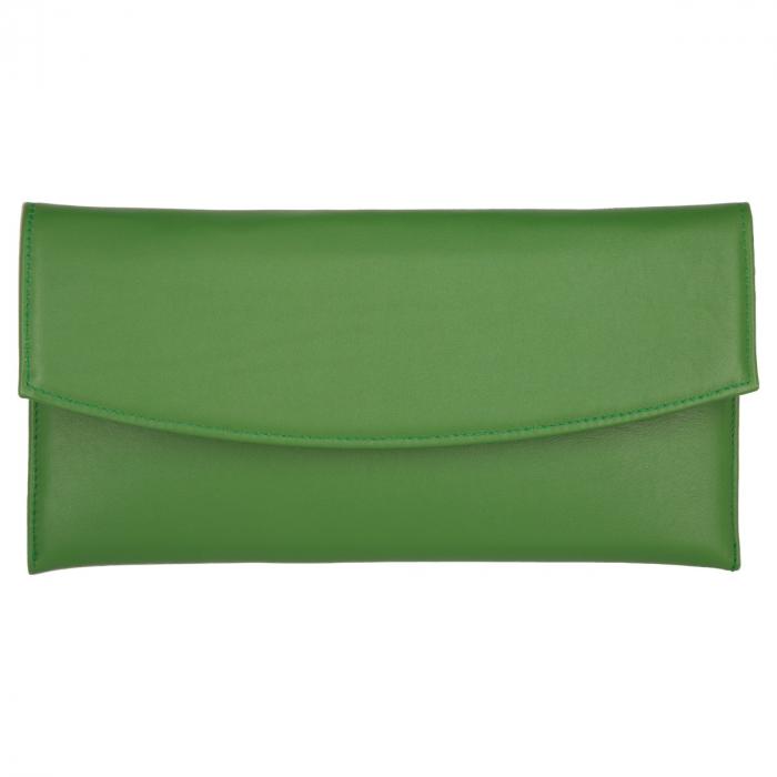 Plic de ocazie verde iarba din piele naturala box [1]
