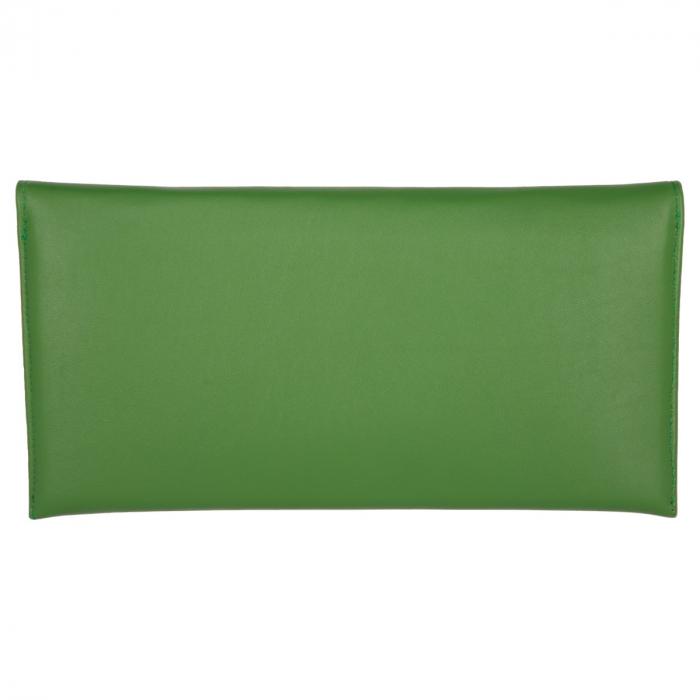 Plic de ocazie verde iarba din piele naturala box [2]