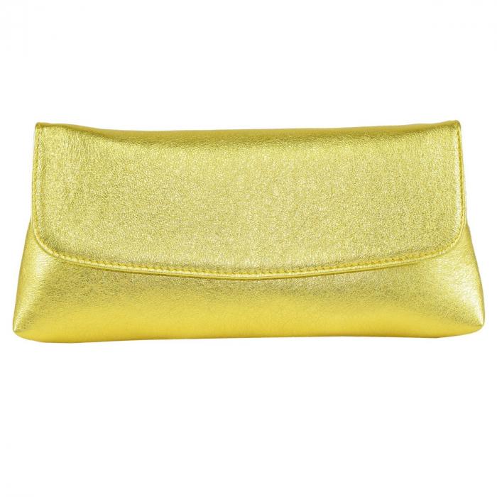 Plic din piele naturala auriu 114 [1]