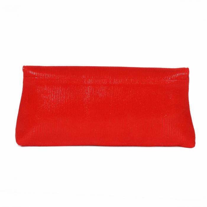 Plic din piele naturala rosie cu striatii fine, model 114 [2]