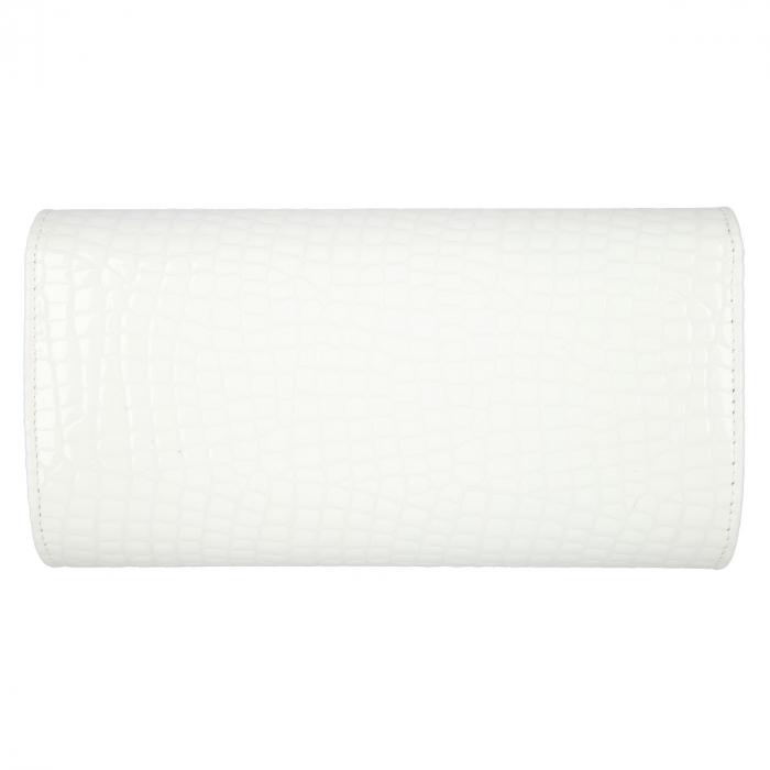 Plic elegant alb din piele lacuita croco, model 08 [2]