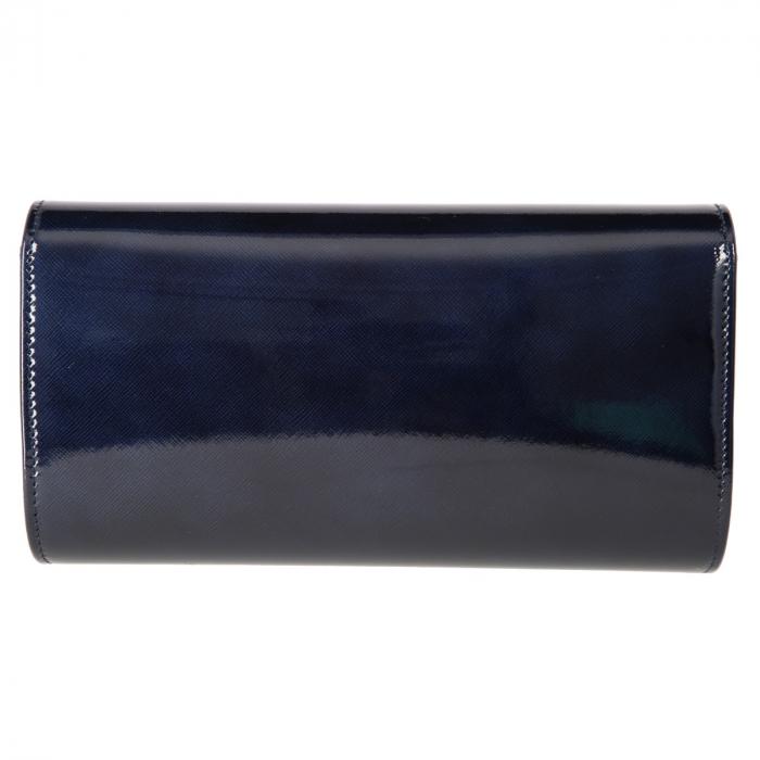 Plic elegant bleumarin inchis din piele saffiano lac, model 08 [2]