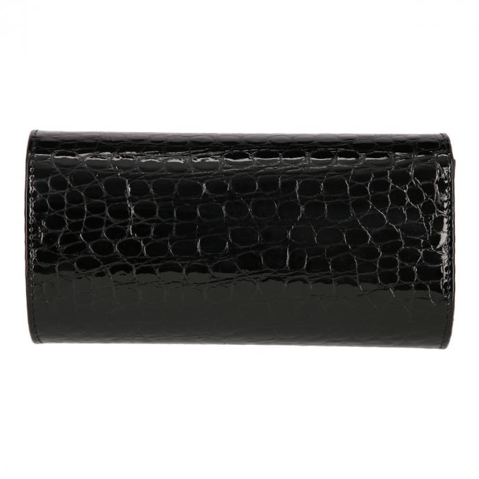 Plic elegant din piele croco lac negru model 08 [2]