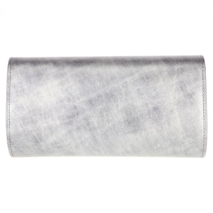Plic elegant din piele fina gri antracit in degrade, model 08 [2]