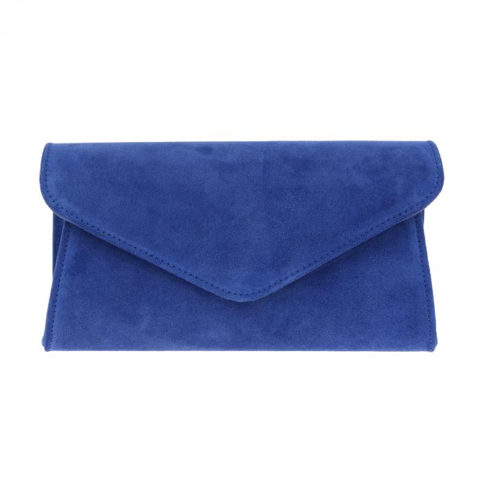 Plic elegant din piele intoarsa albastru regal, model 08 [3]