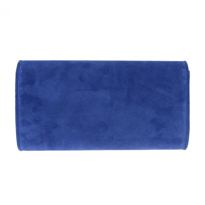 Plic elegant din piele intoarsa albastru regal, model 08 [4]
