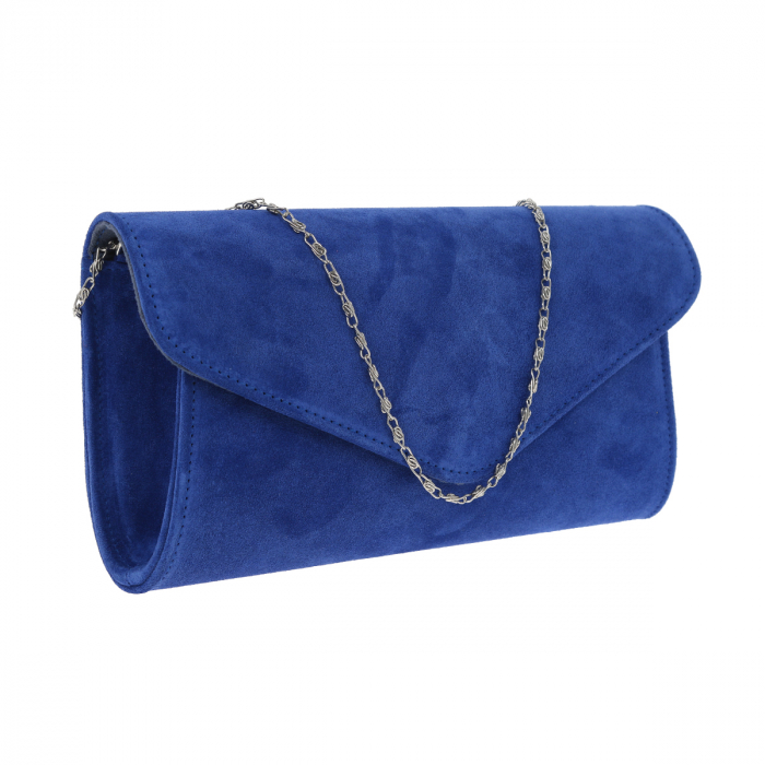 Plic elegant din piele intoarsa albastru regal, model 08 [0]