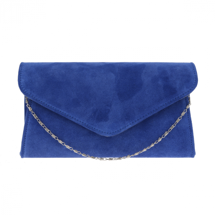 Plic elegant din piele intoarsa albastru regal, model 08 [1]