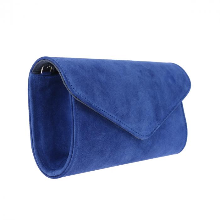 Plic elegant din piele intoarsa albastru regal, model 08 [2]