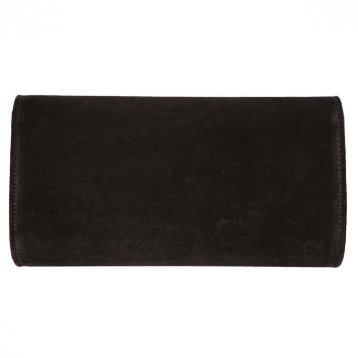 Plic elegant din piele intoarsa neagra, model 08 [2]