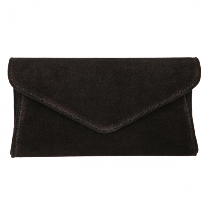 Plic elegant din piele intoarsa neagra, model 08 [1]