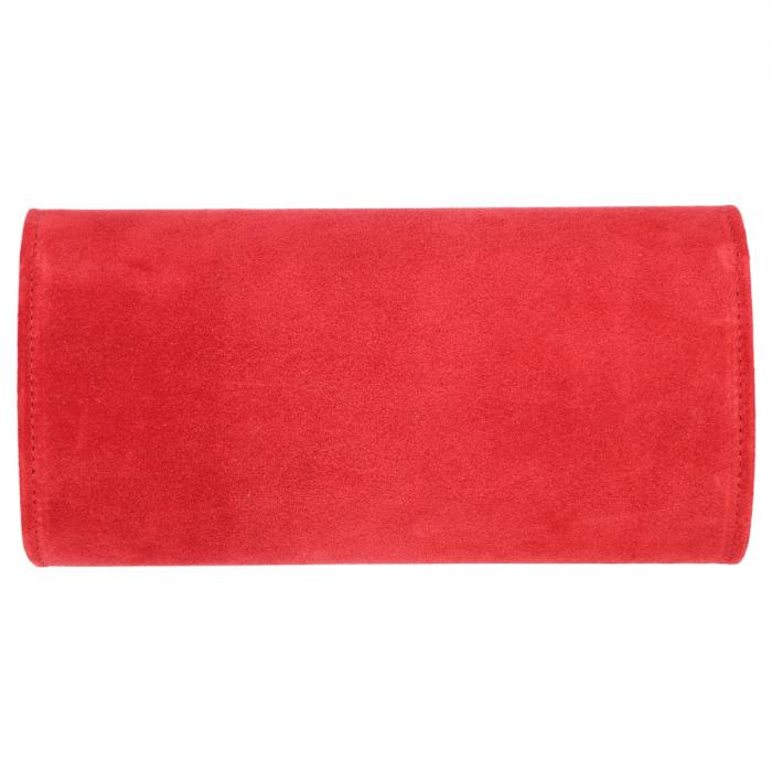 Plic elegant din piele intoarsa rosu clasic, model 08 [2]