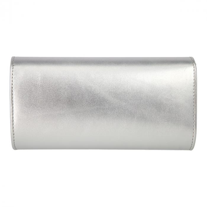 Plic elegant din piele naturala argintiu fin, model 08 [2]