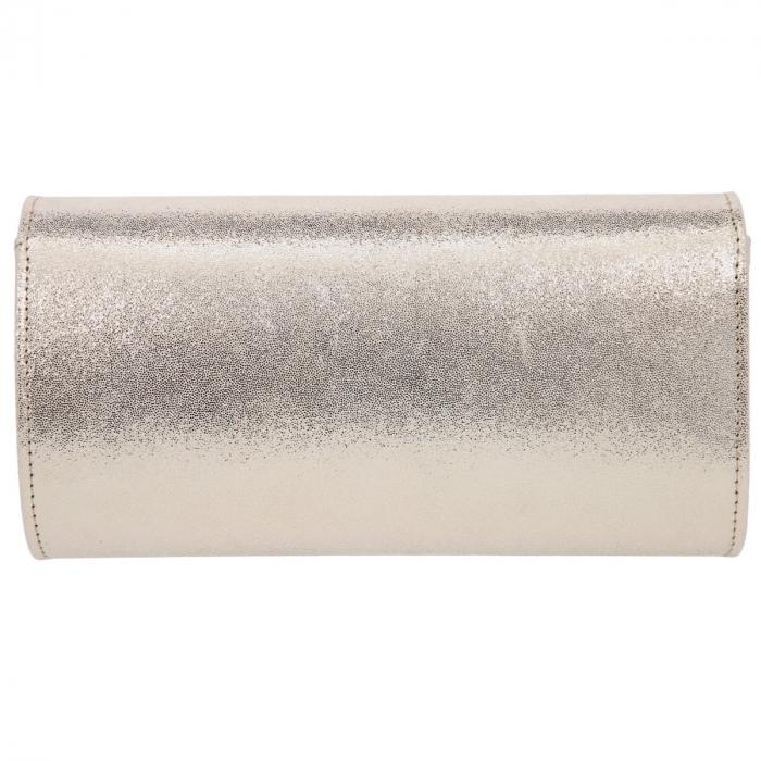 Plic elegant din piele naturala auriu stralucitor, model 08 [2]