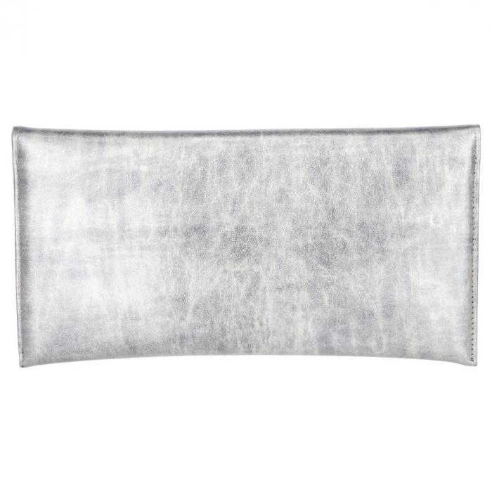 Plic elegant din piele naturala gri antracit in degrade [2]