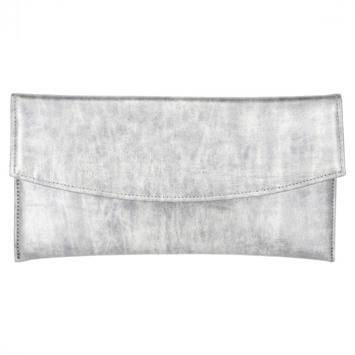 Plic elegant din piele naturala gri antracit in degrade [1]