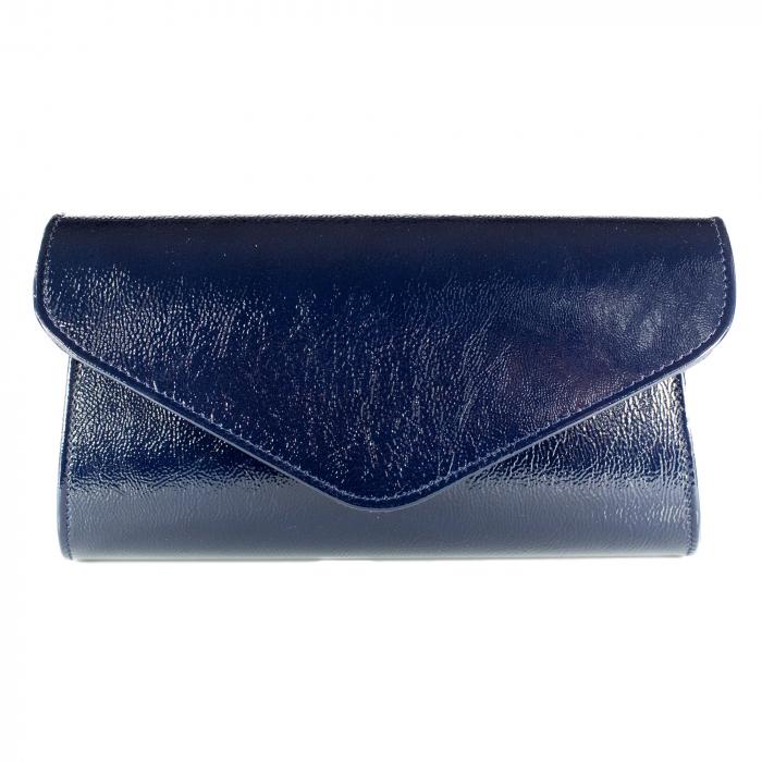 Plic elegant din piele naturala, model 08, Bleumarin [2]