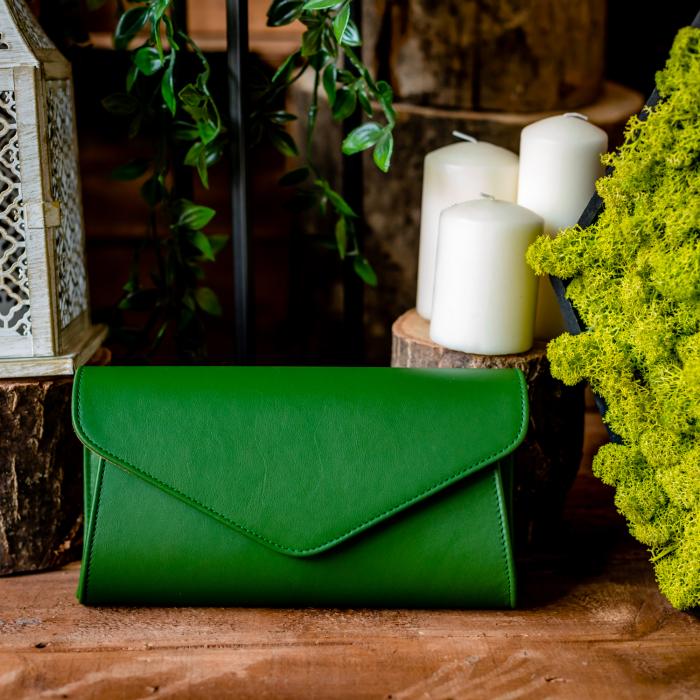 Plic elegant din piele naturala, model 08, Verde [1]