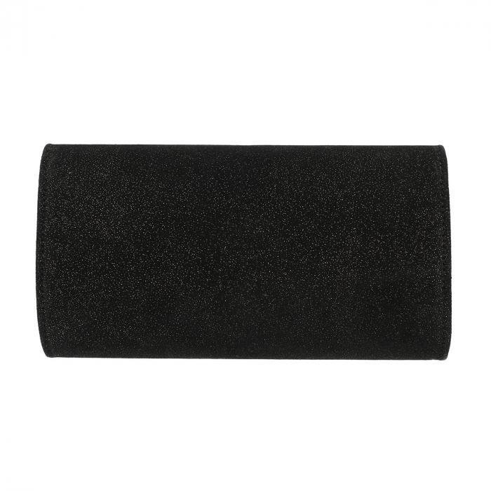 Plic elegant negru din piele intoarsa sidefata intens, model 08 [2]