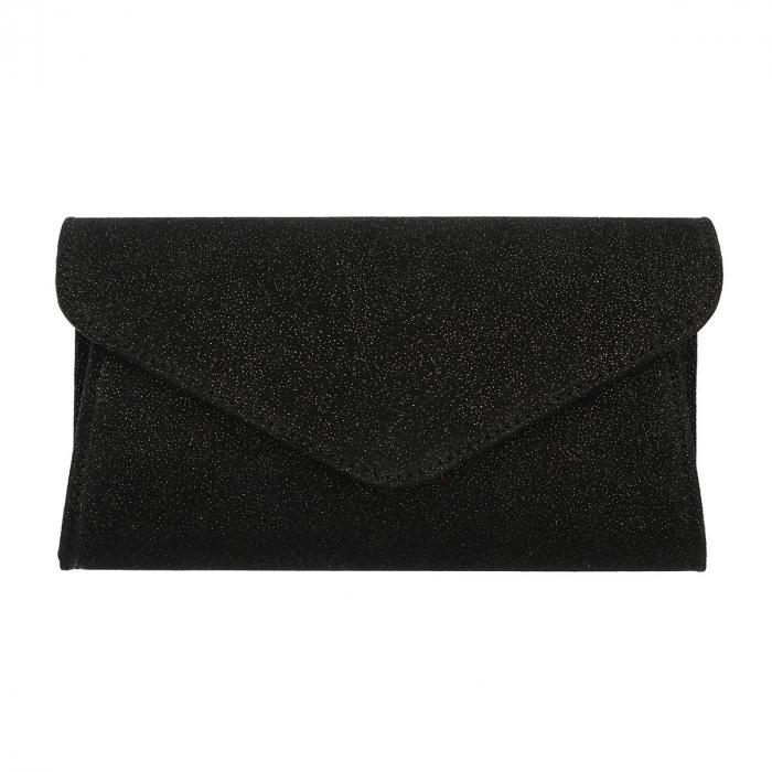 Plic elegant negru din piele intoarsa sidefata intens, model 08 [1]