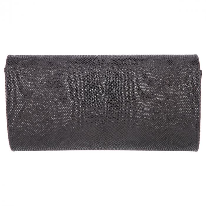 Plic elegant negru din piele naturala cu aspect de picuri de ceara, model 08 [2]
