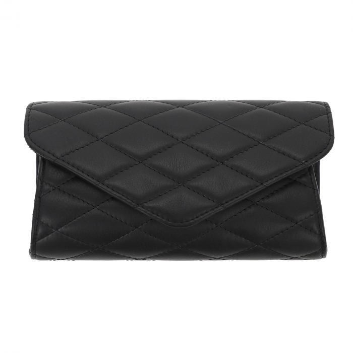 Plic elegant negru din piele naturala tip matlasat, model 08 [1]