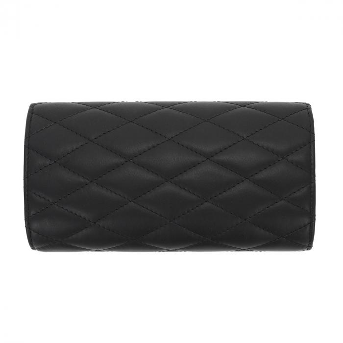 Plic elegant negru din piele naturala tip matlasat, model 08 [2]