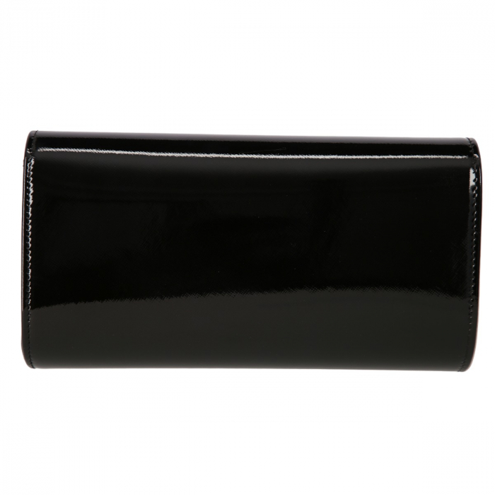 Plic elegant negru din piele saffiano lac, model 08 [2]